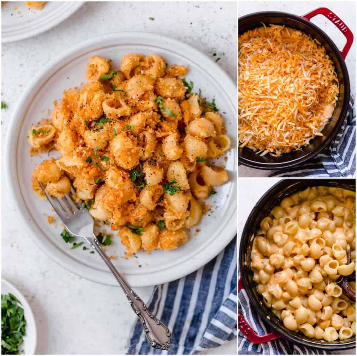 This mac and cheese recipe has a bit of a kick to it and it's the perfect weeknight comfort meal when you are craving pasta and cheese!