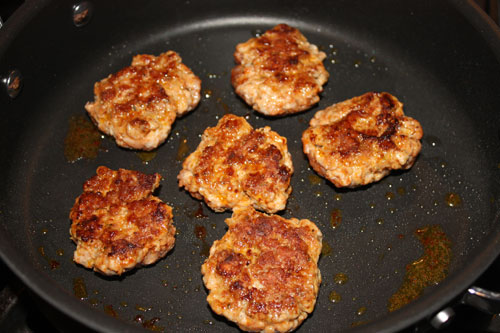 meatballs in skillet