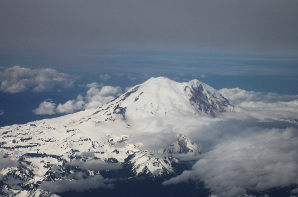 mt. rainier from the sky