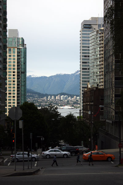 vancouver from a sidewalk