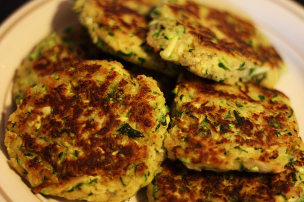 Zucchini Cakes - Table for Two