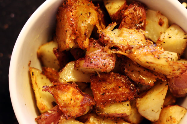 roasted parmesan potatoes - Table for Two®