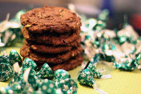 mint truffle cookies
