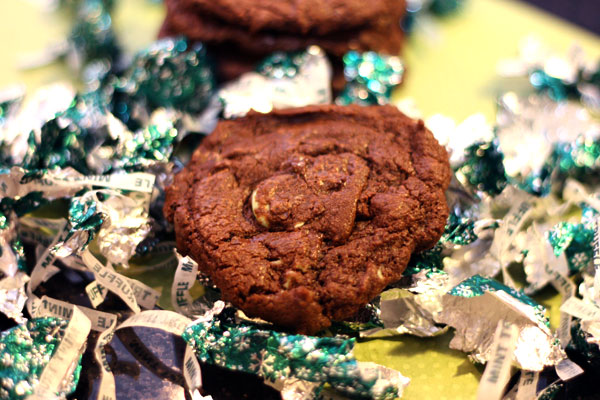 mint truffle cookies