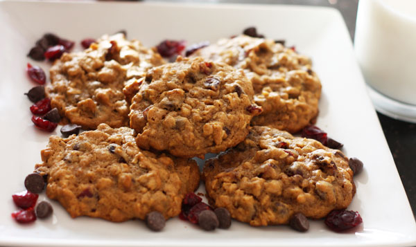 Pumpkin Oatmeal Cookies with dried cranberries and chocolate chips for ...