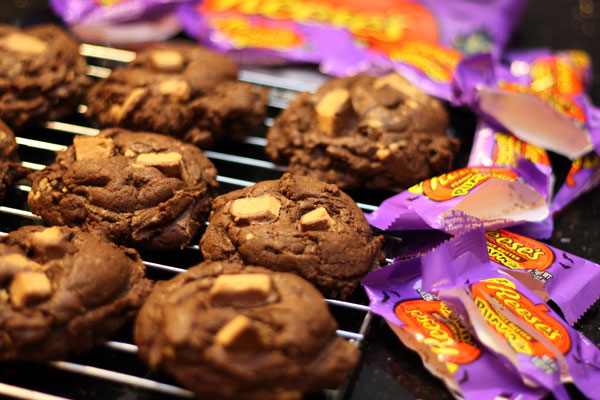 chocolate reese's peanut butter cup cookies - Table for ...