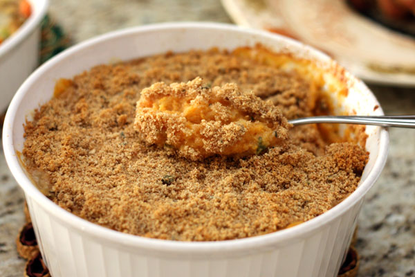 sweet potato & sage butter topping