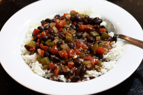 Black Bean Pressure Cooker black beans & rice - Table for Two®