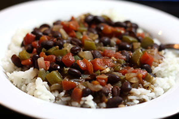 Black beans and rice 2