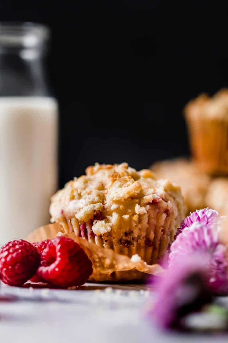 Raspberry Lemon Streusel Muffins that make your kitchen smell like a warm, sunny day. These are the perfect breakfast treat!