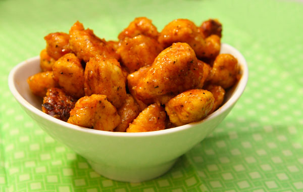 honey chipotle chicken bites