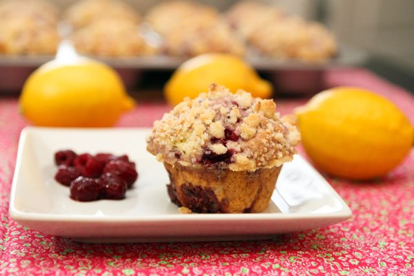 Raspberry Lemon Streusel Muffins Table For Two 174 By Julie