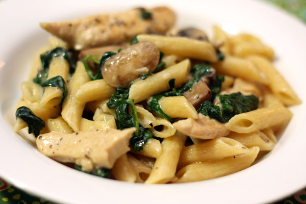 Recipes using spinach and pasta