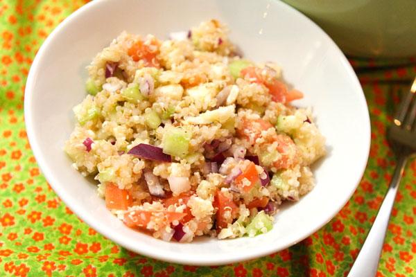 cucumber tomato quinoa salad