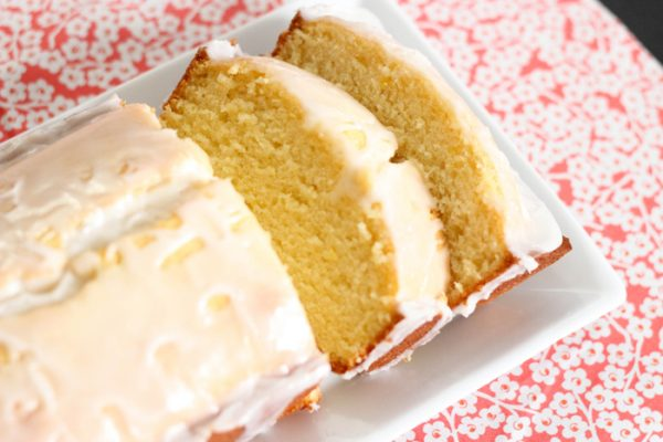 Lemon pound cake table for two