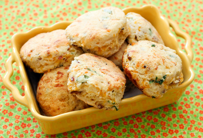 Cheddar Bacon Green Onion Biscuits so flavorful, they are the perfect ...