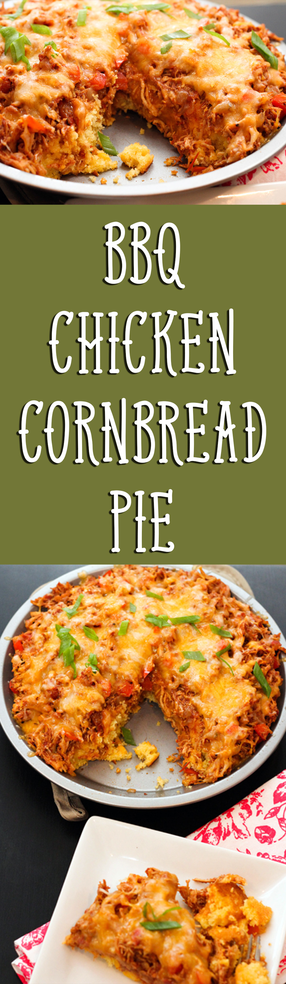 You're going to want to make room for this BBQ chicken cornbread pie! This is one epic dish!