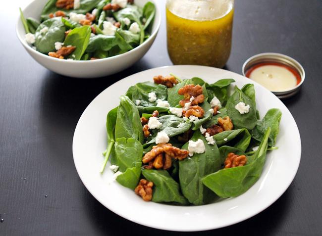 ... Walnut Salad goat cheese & spiced walnuts salad w/mustard vinaigrette