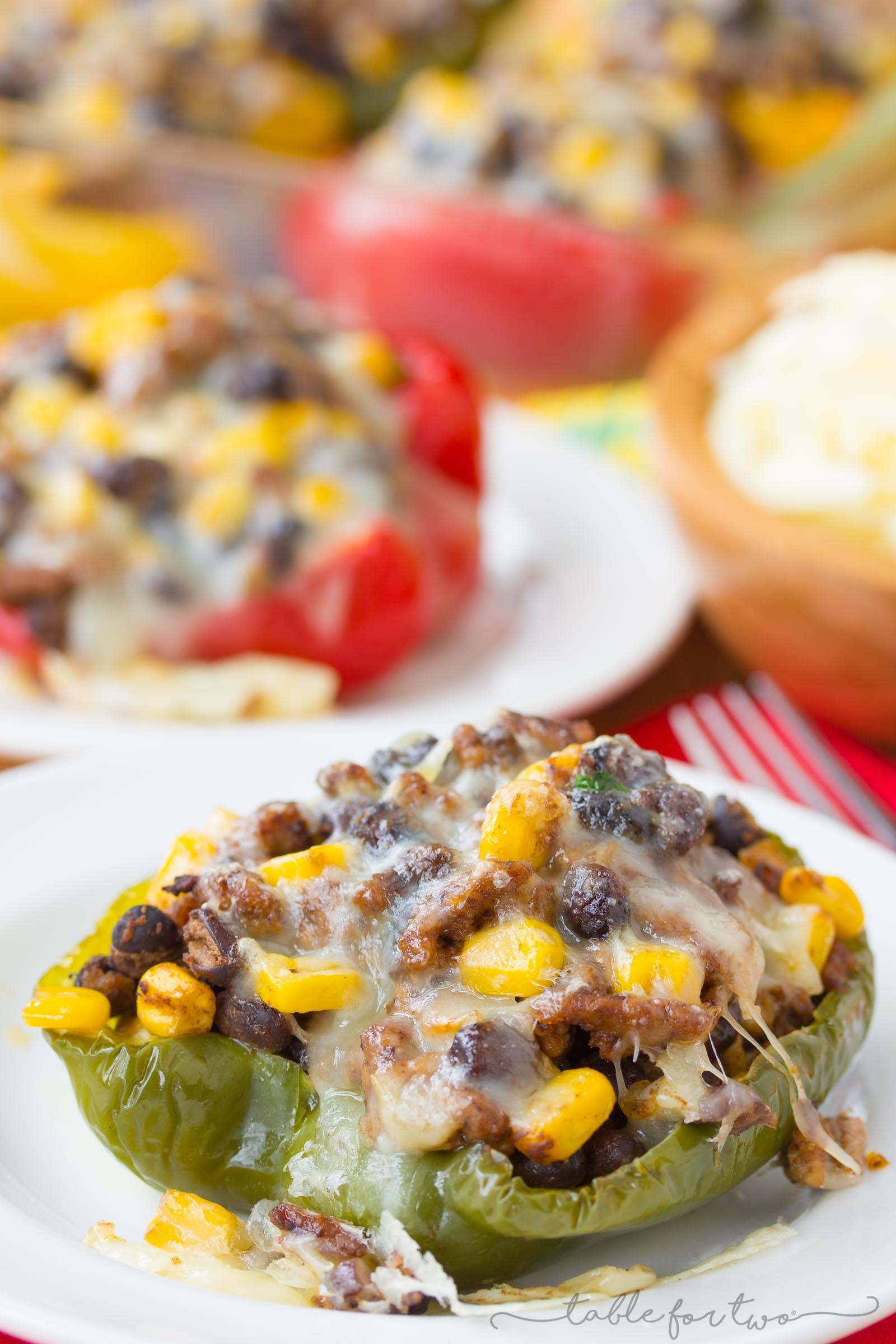 Stuffed peppers are a great healthy alternative to have a meal! Use the cavity of the peppers and stuff it to your hearts content with the ingredients that you love!