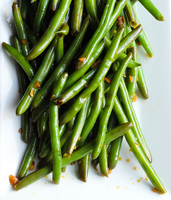 Cold Garlic & Sesame Soy Marinated Green Beans - Table for Two