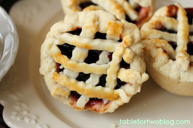 Mini Cherry Pies - Table for Two