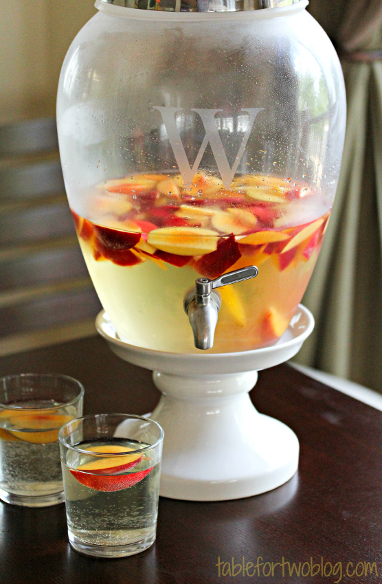 This sparkling peach sangria makes a refreshing party drink that is ...