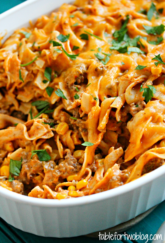 We love this enchilada pasta casserole! So much flavor and makes great leftovers!