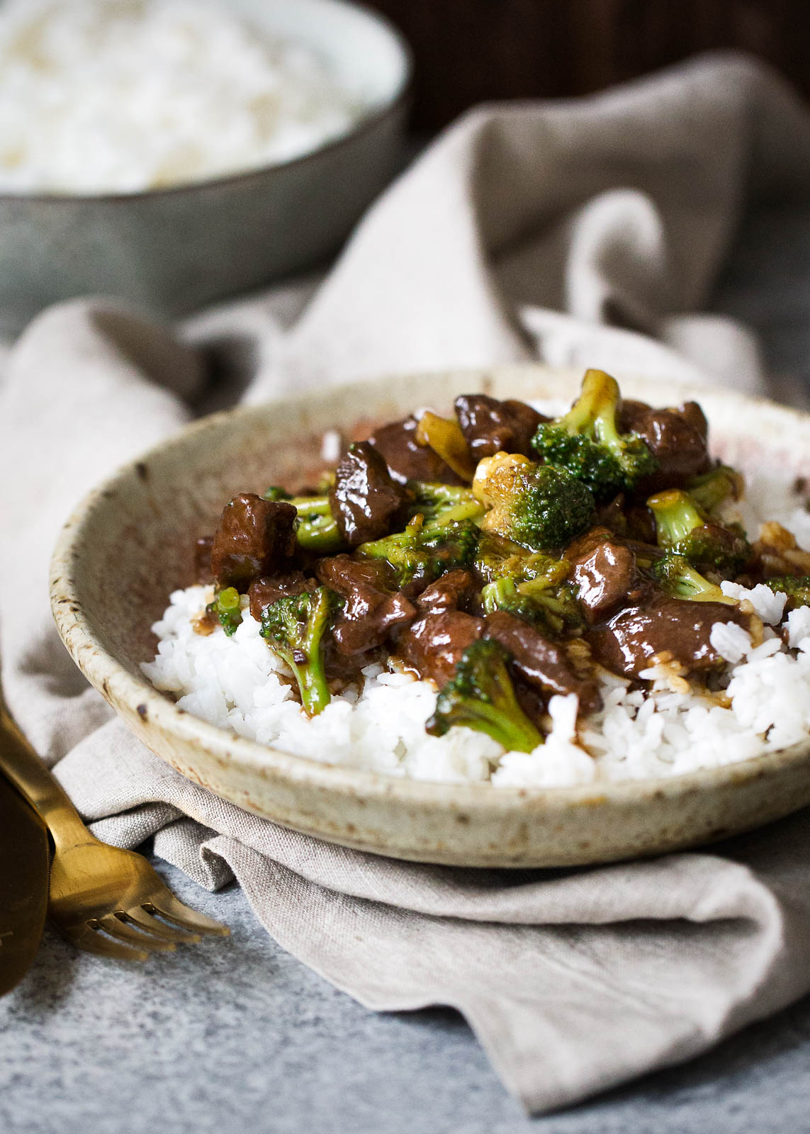 Slow cooker beef and broccoli table for two by julie wampler slow cooker beef and broccoli is easy to make at home and such a warm comforting forumfinder Choice Image