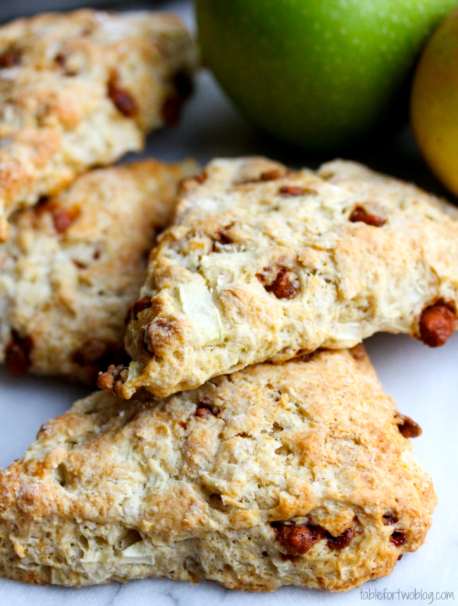 Apple Cinnamon Scones - Table for Two