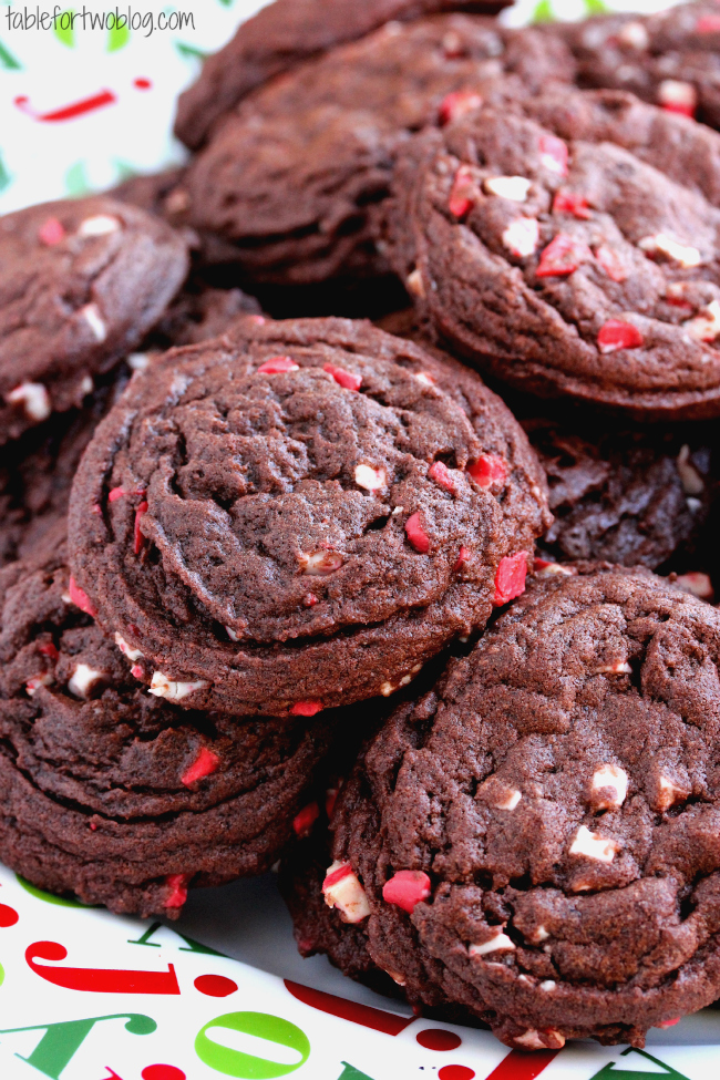 Chocolate Peppermint Chip Cookies Table For Two 174 By Julie Wampler