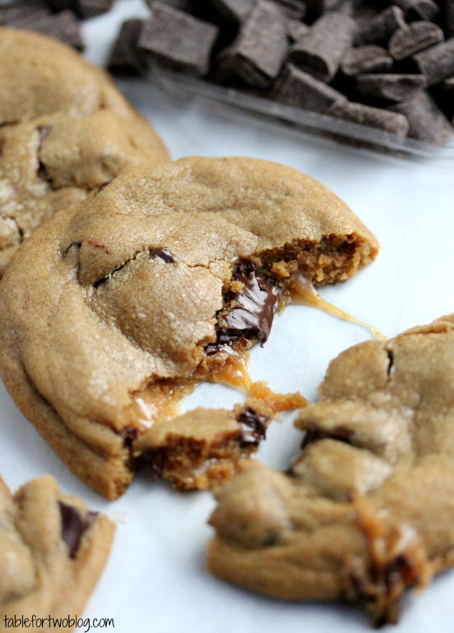 Caramel stuffed chocolate chunk cookies are quite possibly the best ...