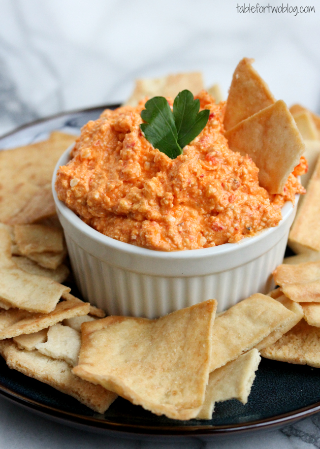 recipe: feta and roasted red pepper dip [4]
