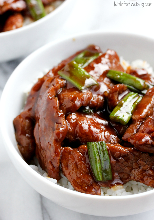 Mongolian beef table for two by julie wampler mongolian beef forumfinder Images