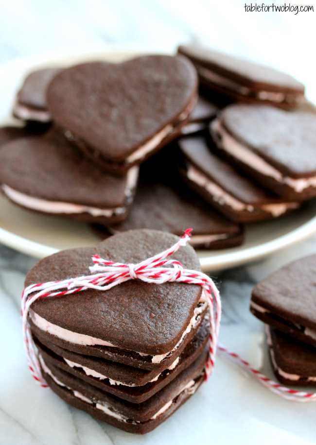 feb 13 heart shaped chocolate sandwich cookies filed under cookies ...