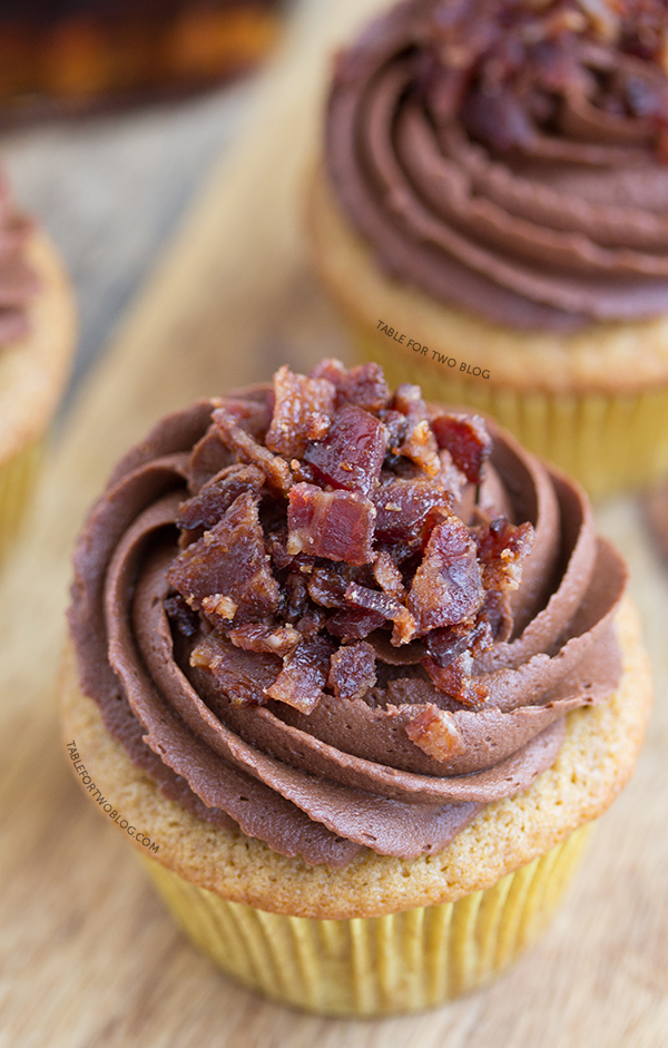 Maple Bacon Cupcakes, Table For Two