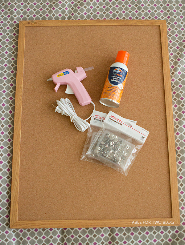 Diy re purposed corkboard table for two by julie wampler for Design your own cork board