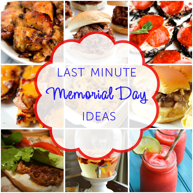 Last Minute Memorial Day Ideas from www.tablefortwoblog.com