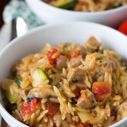 creamy-orzo-and-chicken-sausage-tablefortwoblog-3