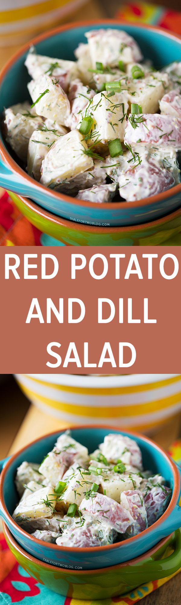 A super simple and healthy red potato and dill salad made with Greek yogurt. Prepare this guilt-free side dish for your next cookout!