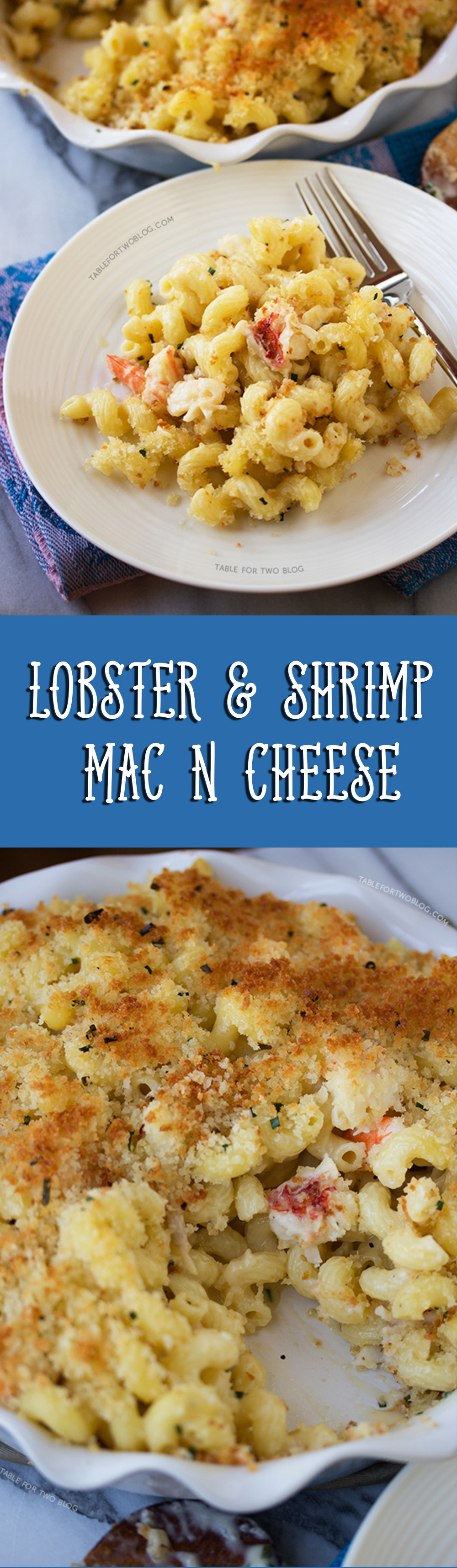 Get your monies worth and make this lobster and shrimp mac 'n cheese at home! You can have a bite of seafood in EVERY bite instead of restaurants skimping on you!