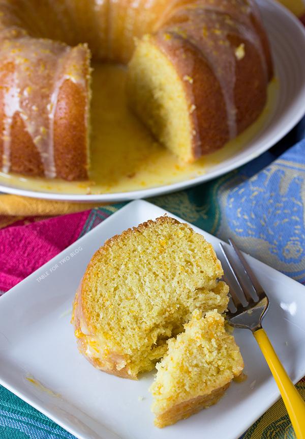 Glazed Orange Pound Cake | www.tablefortwoblog.com