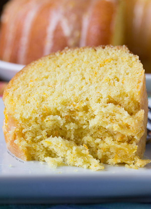 Glazed Orange Pound Cake | www.tablefortwoblog.com