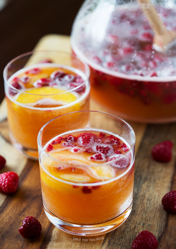 Raspberry Peach Prosecco Punch