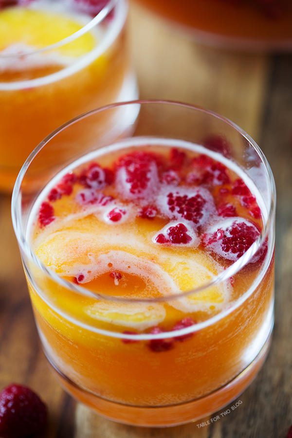 ... have some raspberry peach prosecco punch to celebrate, shall we