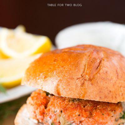 Sockeye Salmon Burgers | www.tablefortwoblog.com