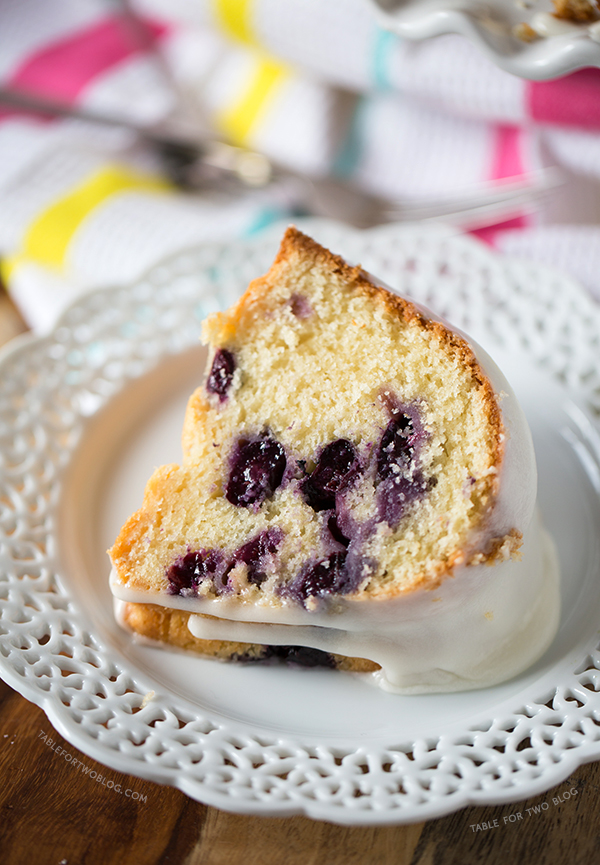 Blueberry Buttermilk Bundt Cake | tablefortwoblog.com