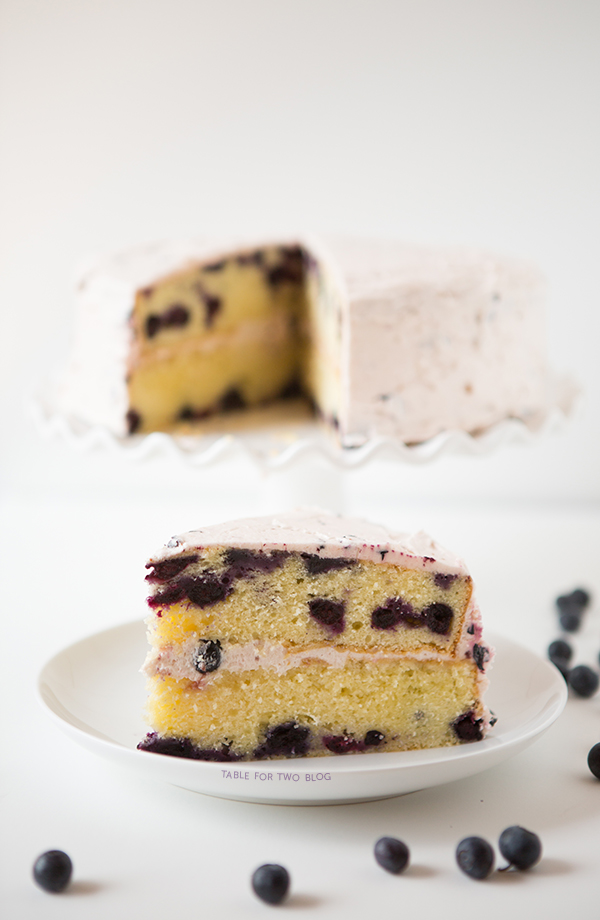 Blueberry Lavender Cake | tablefortwoblog.com