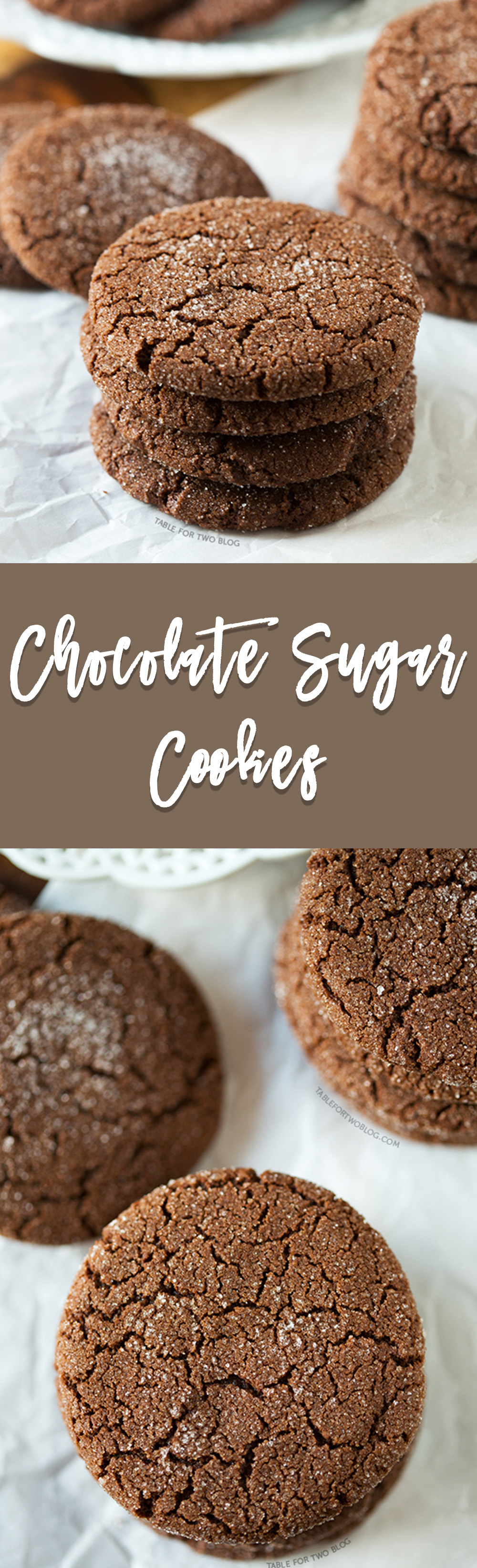 A chocolatey twist on the classic sugar cookie! Chocolate sugar cookies are for the chocolate lovers!