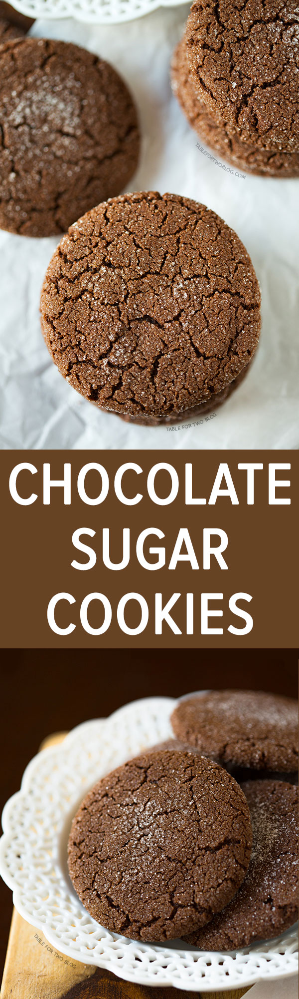 Chocolate Sugar Cookies - Table for Two®
