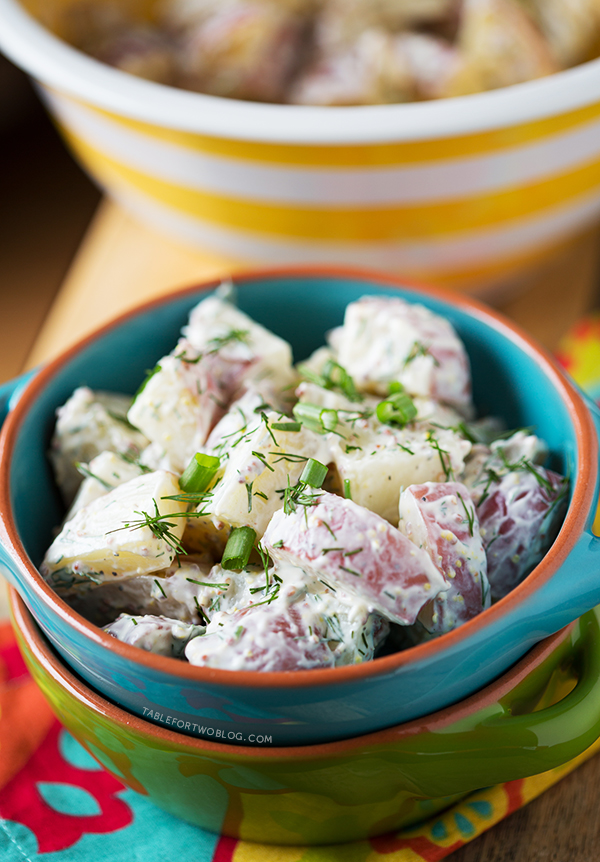 simple and healthy red potato and dill salad made with Greek yogurt ...